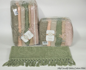 Набор полотенец из 6 штук ТМ Sikel Sacakli Delux Cotton Hitit