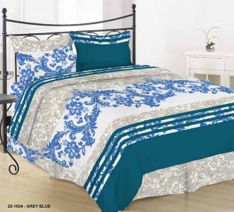 Постельное белье ТМ Nostra бязь Gold 20-1034 Grey Blue