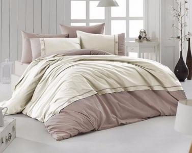 Постельное белье ТМ First Choice De Luxe ранфорс Raina krem евро-размер