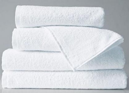 Махровое белое полотенце для гостиниц плотность 480 г/м.кв.