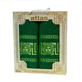 Набор хлопковых полотенец Atlas Medusa зеленый 2 шт