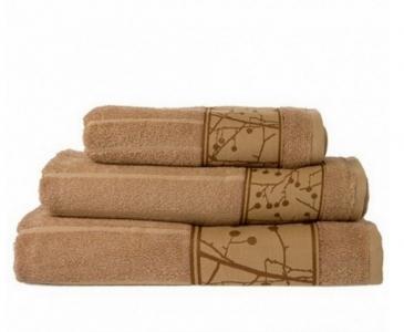 Полотенце бамбук ТМ Arya Ozdilek Wave коричневое 50х100