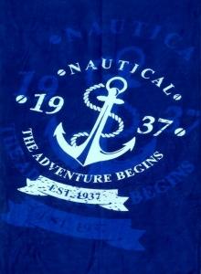 Полотенце велюровое пляжное Турция Nautical 2 75х150