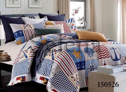 Подростковое постельное белье ТМ Selena бязь-light Печворк Морской 150526