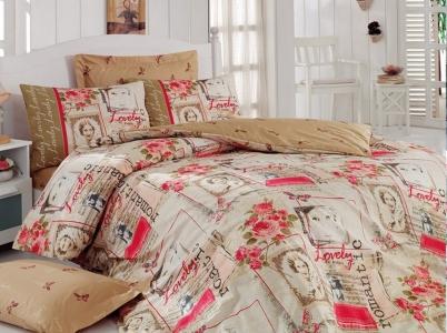 Постельное бельё ТМ Cotton Box ранфорс Romantic Hardal евро-размер
