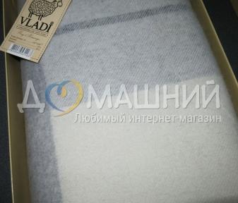 Плед кашемир-меринос ТМ Vladi элитная коллекция 140х200 серый