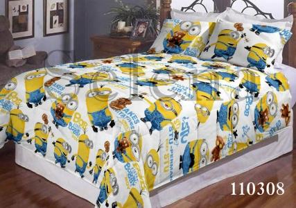 Подростковое постельное белье ТМ Selena бязь Миньоны