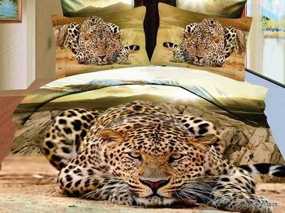 Постельное белье ТМ Novita сатин-панно Cheetah