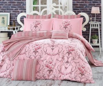 Постельное белье ТМ Hobby Poplin Ornella розовое семейный размер