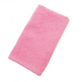Махровые полотенца ОПТ Узбекистан 400г/м2 размер 40х70см розовый