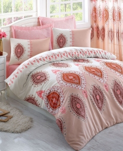 Постельное бельё ТМ Eponj Home ранфорс Zara Somon евро-размер