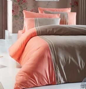 Постельное белье ТМ First Choice De Luxe ранфорс Dlx 03- craze-vizon евро-размер