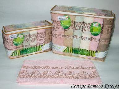 Набор полотенец из 6 штук Cestepe maxisoft Bamboo Eftelya