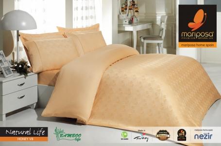 Постельное белье Mariposa De Luxe Tencel бамбук жаккард семейный размер Natural life honey v8