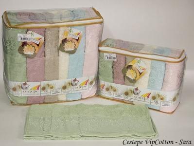Набор полотенец из 6 штук ТМ Cestepe Cotton Sara