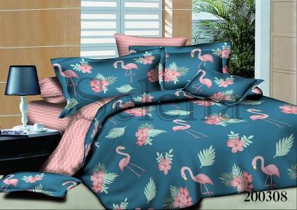Подростковое постельное белье ТМ Selena ранфорс Фламинго 200308