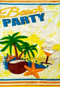 Полотенце велюровое пляжное Турция Beach party 75х150