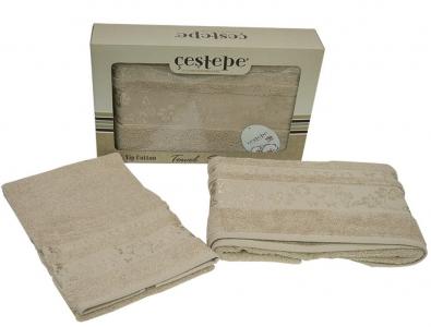 Набор полотенец из 2 штук ТМ Cestepe VIP Cotton кремовый