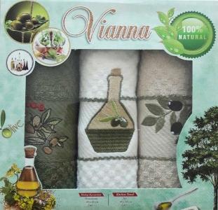 Набор полотенец кухонных 3шт ТМ Vianna (3G001) 40х60