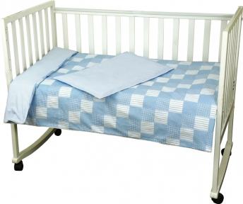 Детский постельный комплект ТМ Руно Клетка голубой