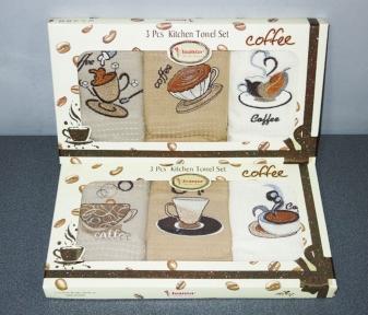 Набор полотенец кухонных ТМ Juanna 3шт 50х70 вафельные - кофе люкс