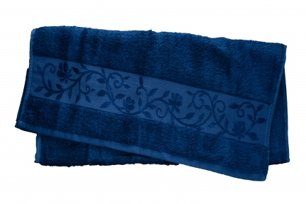 Полотенце ТМ Hanibaba Bamboo тёмно-синий