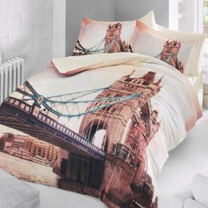 Постельное белье ТМ Luoca Patisca Sateen 3D London евро-размер