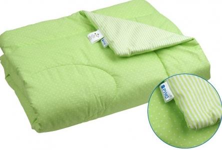Одеяло детское хлопковое стеганое ТМ Руно салатовое