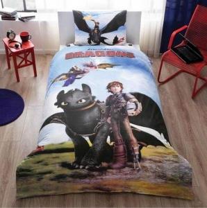 Подростковый постельный комплект ТМ TAС Train Your Dragons