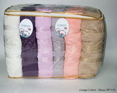 Набор полотенец из 6 штук ТМ Cestepe VIP Cotton Diana