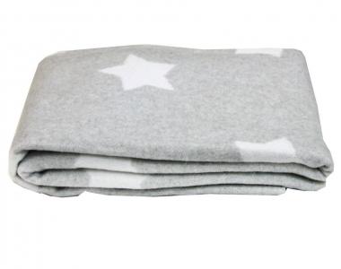 Плед-одеяло ТМ Vladi Звезды серое 100х140