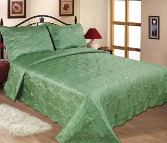 Покрывало стёганное с наволочками ТМ Love you 11-09 Зеленый