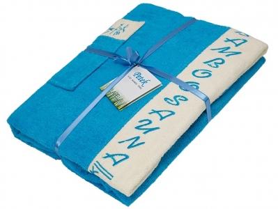Набор ТМ Petek La Bella для сауны женский 3-х предметный бамбуковый синий