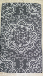 Полотенце пештемаль ТМ Cestepe Gray flower 100х175