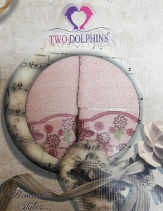 Набор полотенец ТМ Two Dolphins Romantic styles 2шт lite pink