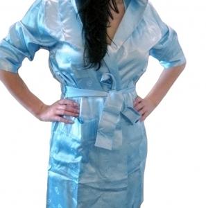 Халат из вискозы бамбуковый ТМ Nusa голубой женский размер L/XL