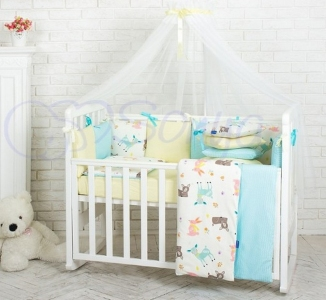 Детский набор из 7 предметов ТМ Маленькая Соня Baby Design Премиум Bambi
