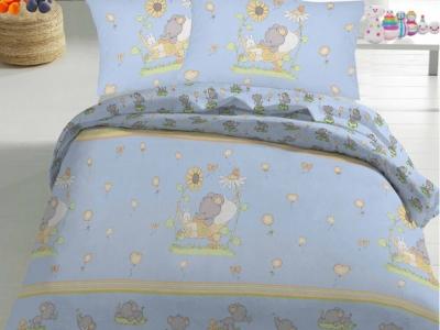 Детский постельный комплект ТМ Novita бязь 10-0211 blue