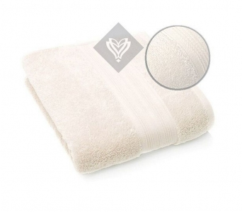 Полотенце махровое ТМ Идея Aqua Fiber молочное