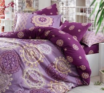 Постельное белье ТМ Hobby Exclusive Sateen Ottoman фиолетовое