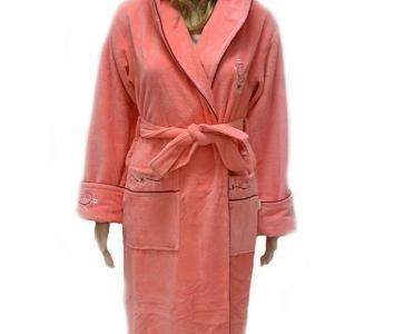 Халат велюровый ТМ Nusa персиковый женский (NS 3655) L/XL размер