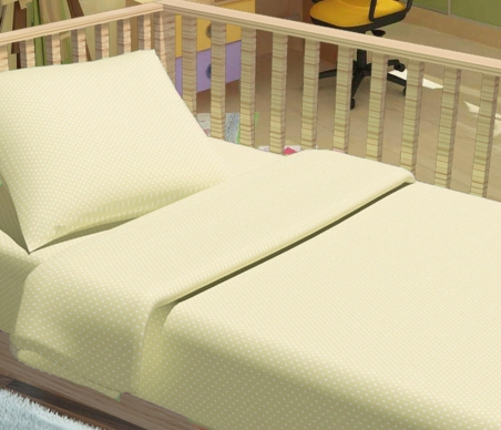 Детский постельный комплект ТМ ТOP Dreams Горошки бежевые