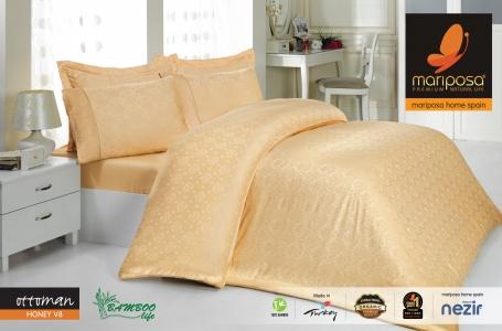 Постельное белье Mariposa De Luxe Tencel бамбук жаккард евро-размер Оttoman honey v8