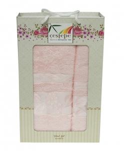 Набор полотенец из 2 штук ТМ Cestepe Bamboo светло-розовый