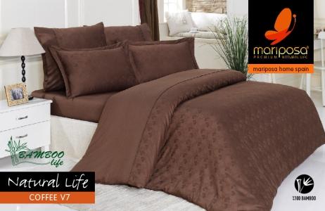 Постельное белье Mariposa De Luxe Tencel бамбук жаккард Natural life coffee v7 полуторное