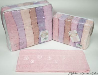 Набор полотенец из 6 штук ТМ Sikel Purry Cotton Gulru