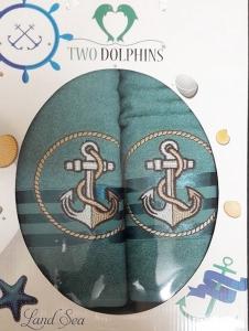 Набор полотенец ТМ Two Dolphins Land sea 2шт green