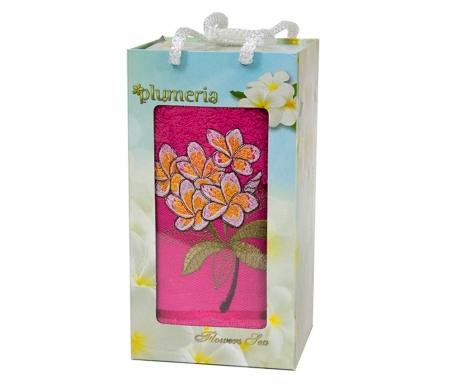 Набор хлопковых полотенец Turkiz Plumeria темно-розовый 50х90см