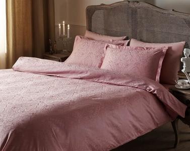 Постельное белье ТМ TAC жаккард Gardenia Pink евро-размер