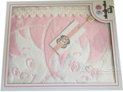 Детское глобеленновое плед-покрывало Турция розовое